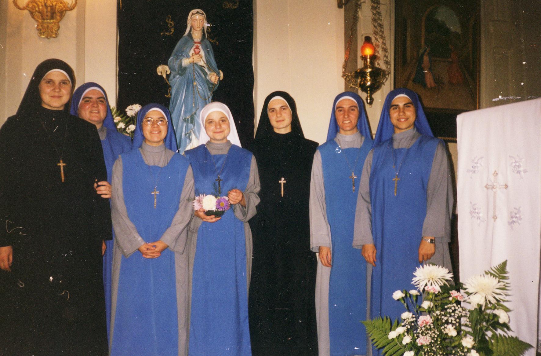 Облачение сестры Марии Радости Божьей